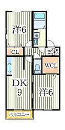 クレストパークD[2階]の間取り