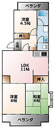 エクセル甲子園[3階]の間取り