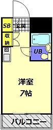 メゾン・ド・ノア大和田[407号室]の間取り