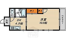 東洋プラザ桜ノ宮[6階]の間取り