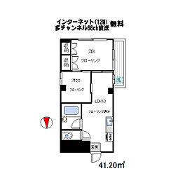 東京都中野区新井5丁目の賃貸マンションの間取り