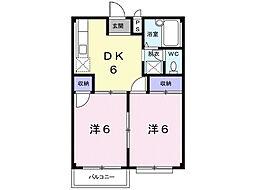 エルディム大竹I[2階]の間取り