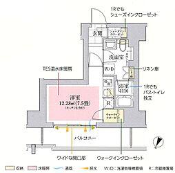 東京メトロ丸ノ内線 御茶ノ水駅 徒歩10分の賃貸マンション 11階ワンルームの間取り