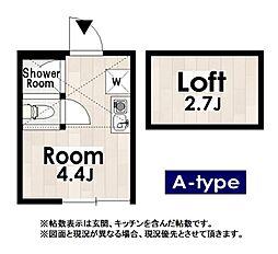 Roots竹ノ塚[101号室]の間取り