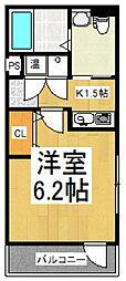 ドミール新座[4階]の間取り