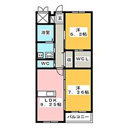 グランIII[5階]の間取り