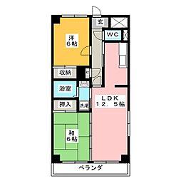 カームネスK[3階]の間取り