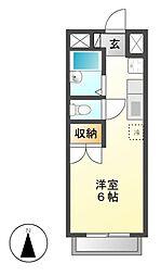 エステートピアM・K[1階]の間取り
