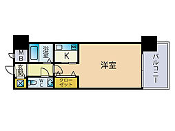 エステートモア天神STUDIO[9階]の間取り