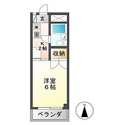安田学研会館 乾棟[7階]の間取り