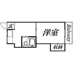 静岡県浜松市中区佐藤1丁目の賃貸マンションの間取り
