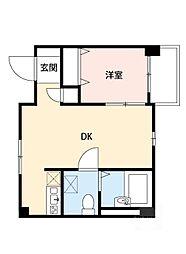東千里OMパレス3[2階]の間取り