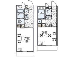 京阪本線 森小路駅 徒歩4分の賃貸マンション 3階1Kの間取り