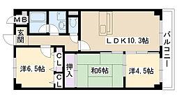 ファインアベニュー[1階]の間取り