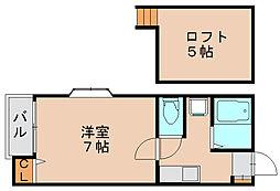 ピュア箱崎東六番館[1階]の間取り