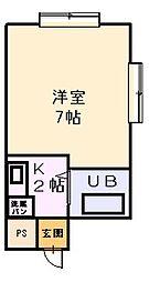 栄ロイヤルマンション[301号室]の間取り