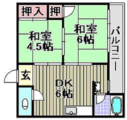 第1マンション[10号室]の間取り