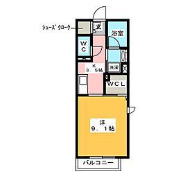 (仮)ベレオ刈谷大正町 2階1Kの間取り