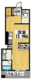 大阪府大阪市鶴見区今津中3の賃貸マンションの間取り