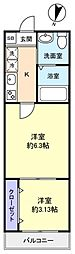 フィオーレ勝田台[1階]の間取り