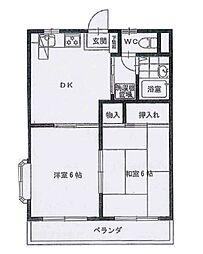 本太イブキマンション[4階]の間取り