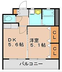 コスモグリーンライフ[2階]の間取り