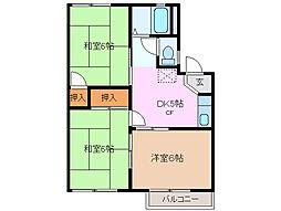 カーサ清水 A棟[2階]の間取り