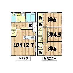 [テラスハウス] 神奈川県横浜市泉区新橋町 の賃貸【/】の間取り