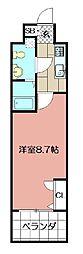No65クロッシングタワ-ORIENT BLD[5階]の間取り