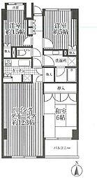 神奈川県横浜市中区本牧原の賃貸マンションの間取り