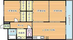 リシェス有田[3階]の間取り