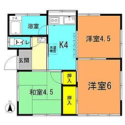 [一戸建] 神奈川県平塚市桃浜町 の賃貸【/】の間取り
