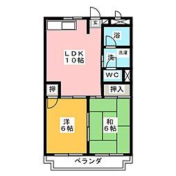 グリーンピア八竜[2階]の間取り