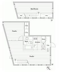 レジディア南青山[2階]の間取り