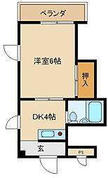 エトアール吉田[3階]の間取り