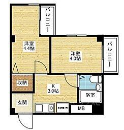 クルーム新大阪2番館[8階]の間取り