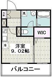 JR京浜東北・根岸線 大船駅 徒歩1分の賃貸マンション 4階1Kの間取り