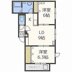 ルチェアN24[3階]の間取り