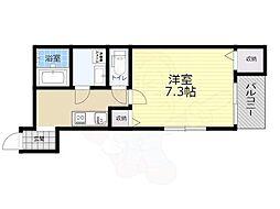 Osaka Metro今里筋線 瑞光四丁目駅 徒歩9分の賃貸アパート 3階1Kの間取り
