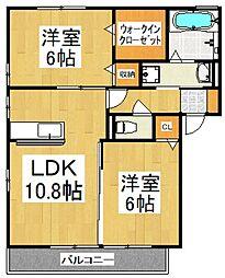リヴェールガーデン[2階]の間取り