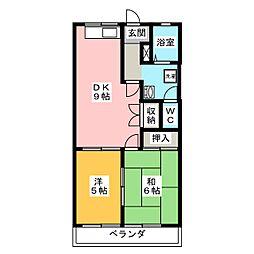 二の丸ハイム[2階]の間取り