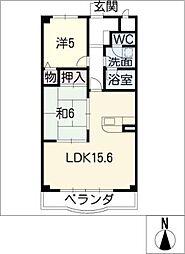 レイディアント[2階]の間取り