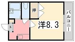 兵庫県姫路市佃町の賃貸アパートの間取り