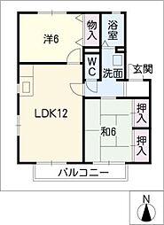 エトワールB棟[2階]の間取り
