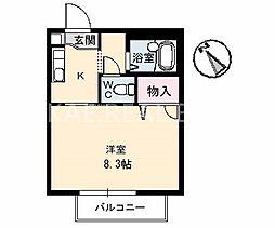 CASA安宅 B棟[205号室]の間取り
