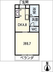 レジデンスフローラ[3階]の間取り