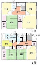 [一戸建] 千葉県船橋市二宮2丁目 の賃貸【/】の間取り