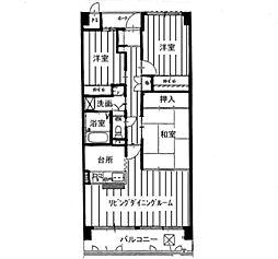 KDXレジデンス茨木II(旧:レガーロ茨木II)[0206号室]の間取り