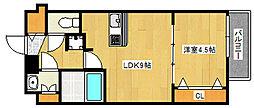 阪急神戸本線 王子公園駅 徒歩6分の賃貸マンション 8階1LDKの間取り