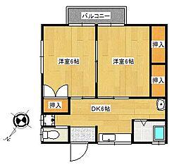 高橋荘[2階]の間取り